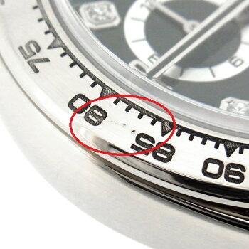【中古】ROLEXロレックスコスモグラフデイトナK18WG無垢8Pダイヤモンド黒文字盤116509Gルーレット刻印Z番旧バックルクロノグラフ自動巻メンズ腕時計