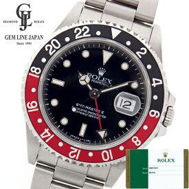 新品 2018年ギャラ付 ロレックス GMTマスターII 赤黒ベゼル 16710 T番 ステンレススチール製 黒文字盤 自動巻メンズ腕時計