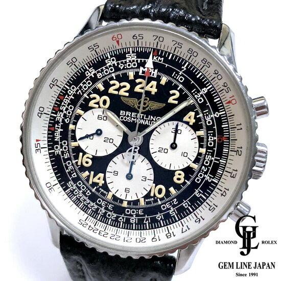 【中古】ブライトリング ナビタイマー コスモノートA12022 黒文字盤 自動巻き メンズ 腕時計