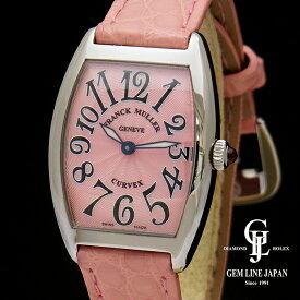 【中古】【美品】フランクミュラー トノウカーベックス 1752BQZ ピンク文字盤 SS/革 腕時計