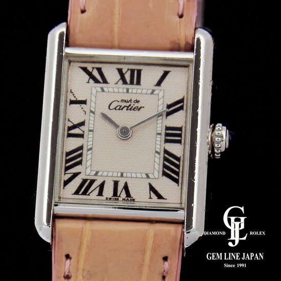 【中古】カルティエ マストタンク 2416 SV/革 レディース 腕時計