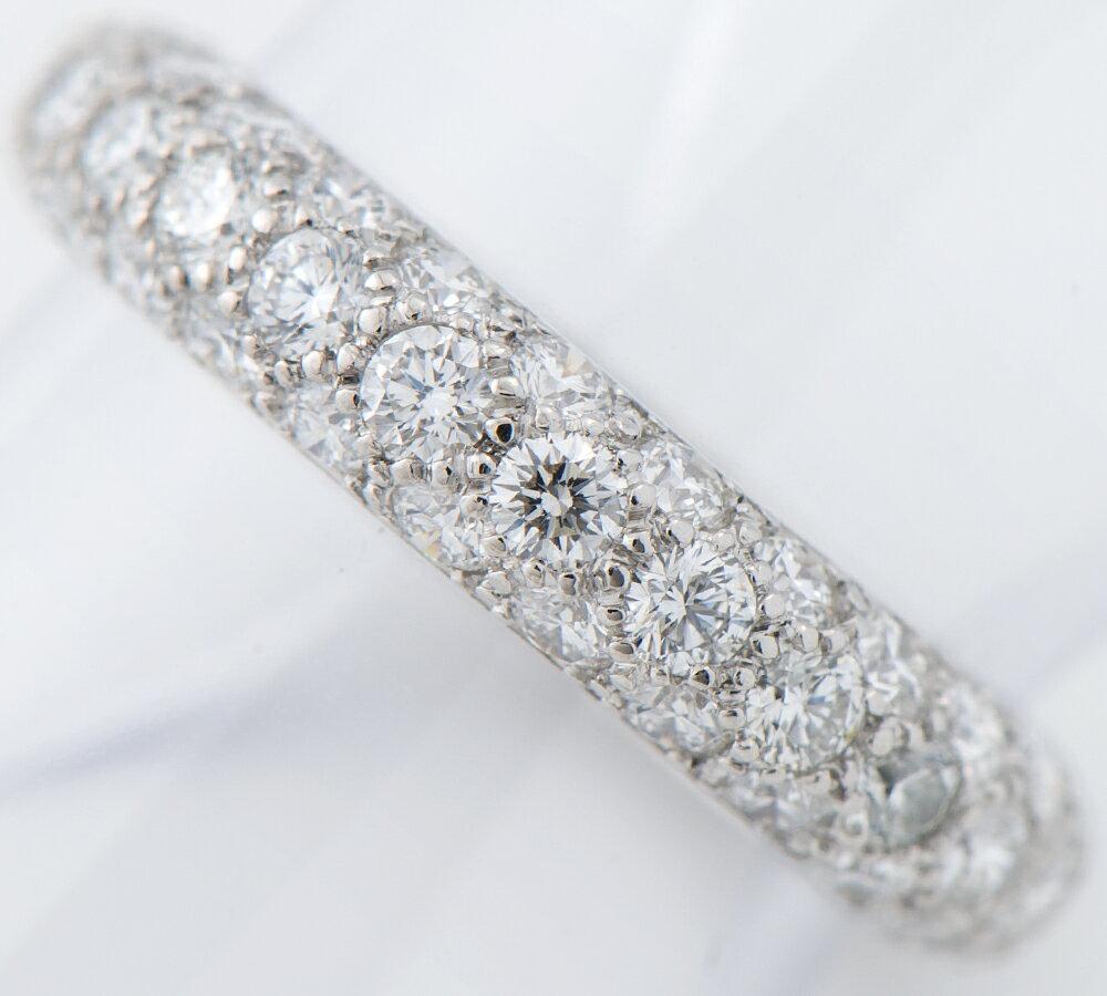ティファニー ドッツ3ロウ ダイヤモンド プラチナ950 8号 リング・指輪【中古】(2200000218445)