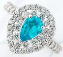 ブラジル産 パライバトルマリン0.638ct ダイヤモンド 計0.77ct プラチナ900 13号 リング・指輪【中古】(2200000215154)