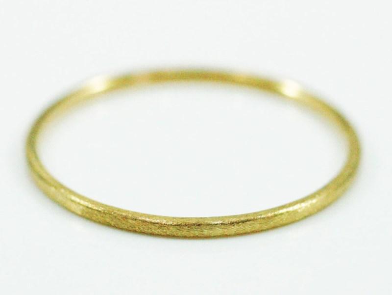 K18 Fine Ring basic matte 極細リング 18金製 艶消しリング 華奢 レディース 指輪 重ね着け ピンキーリング 細身 結婚式 プレゼント ギフト 日本製 送料無料