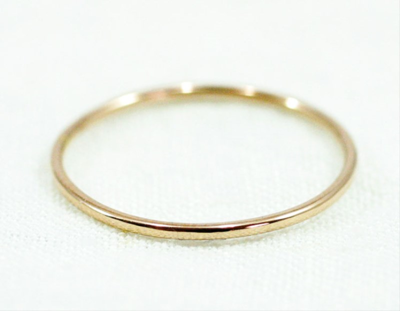 K18PG Fine Ring smooth 極細リング 18金ピンクゴールド製 シンプル リング 華奢 レディース 指輪 重ね着け ピンキーリング 細身 結婚式 プレゼント ギフト日本製 送料無料