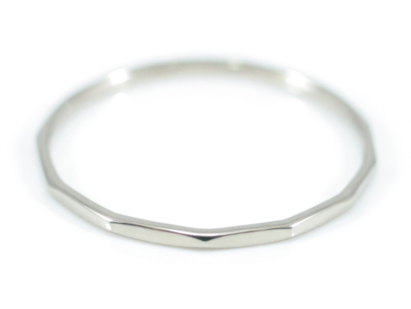 「DM便送料無料」 ホワイトゴールド! K18WG 「 K18WG Fine Ring basic」 極細リング 華奢リング レディース 指輪 重ね着け ピンキーリング 細身 ミディーリング プレゼント ギフト 日本製 ナチュラルホワイトゴールド