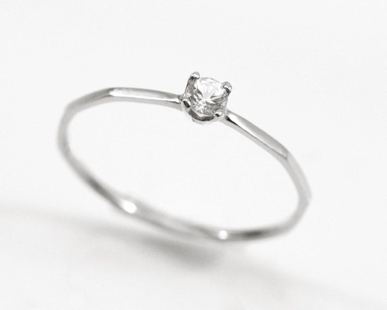送料無料 ホワイトサファイア Fine Ring Stone プレゼント 天然宝石 専用BOX ラッピング ギフト Pt900 プラチナ