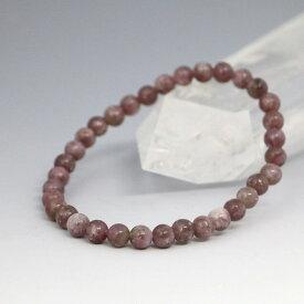 数珠 ブレスレット レピドライトブレス6mm【天然石 パワーストーン お守り 選べるサイズ】