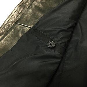 EMMETIエンメティHUOMO(アッカウォモ)ラムナッパレザーシングルライダースレザージャケットメンズ19秋冬NERO/BLACK