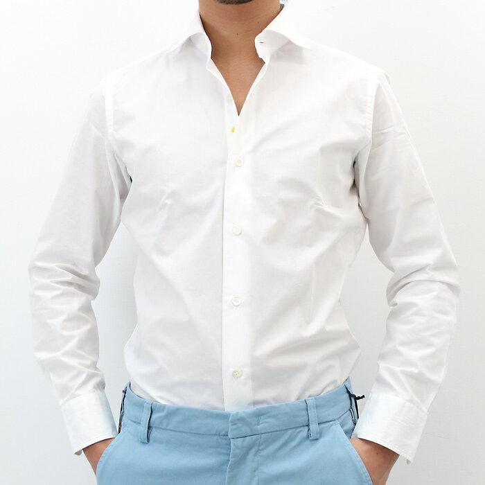 giannetto(ジャンネット)コットンツイル セミワイドカラーシャツ SLIM FIT 001/WHITE(6G10330L81)【メンズ】