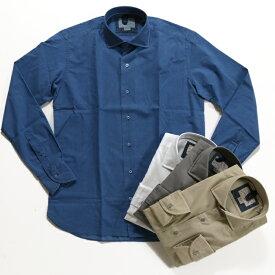 ORIAN オリアン セルビッチ シャンブレーコットンシャツ メンズ 4色展開 YD73D-02D661