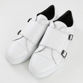 Pantofola d'Oro パントフォラドーロ ダブルモンクストラップ レザーローカットスニーカー WHT/WHITE(FC01)【メンズ】