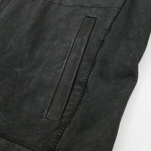 RenzoCenciレンツォチェンチシングルレザージャケットメンズ18春夏NERO/BLACK1761