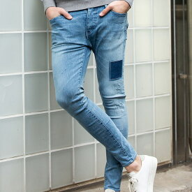 wjk 19w knock out skinny(USED) 5920ds29【 スキニー デニム ストレッチデニム ユーズド加工 】【MENS】