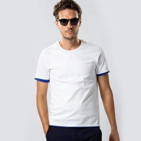 wjk sweater's cut&sewn 7834lj91【 Tシャツ レイヤード 半そで 丸首 ポリエステル 】【MENS】
