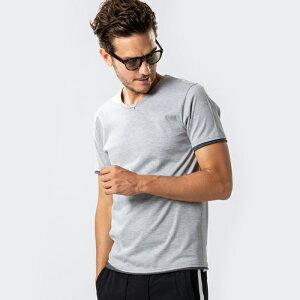 wjk19sssweater'scut&sewn7834lj91【Tシャツレイヤード半そで丸首ポリエステル】【MENS】
