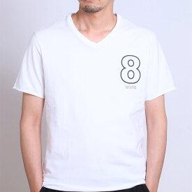 wjk muta 8 T 7911mw11 【 ダブルネーム Tシャツ 断ち切り Vネック 】【MENS】