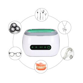 超音波洗浄機 超音波 洗浄器 クリーナー 卓上型 メガネ 入れ歯 時計 アクセサリー洗浄 42KHZ 600ml 35W 12段階タイマー設定 LED表示 タッチ制御 コンパクト