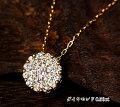 K18WGダイヤモンド0.500ctネックレス!