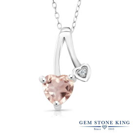 Gem Stone King 0.71カラット 天然 ローズクォーツ 天然 トパーズ (無色透明) シルバー925 ネックレス ペンダント レディース シンプル 天然石 金属アレルギー対応 誕生日プレゼント