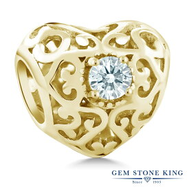Gem Stone King スワロフスキージルコニア (無色透明) シルバー 925 イエローゴールドコーティング ブレスレット チャーム レディース CZ 小粒 シンプル 金属アレルギー対応 誕生日プレゼント