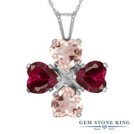 Gem Stone King 3.32カラット 天然 ローズクォーツ シルバー925 ネックレス ペンダント レディース 天然石 金属アレルギー対応 誕生日プレゼント