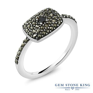 0.05カラット ブラックダイヤモンド 指輪 レディース リング シルバー925 ブランド おしゃれ 四角い 一粒 ブラック ダイヤ 黒 小粒 シンプル カクテル 天然石 4月 誕生石 金属アレルギー対応