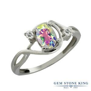 Gem Stone King 1.03カラット 天然石 ミスティックトパーズ (マーキュリーミスト) 天然 トパーズ (無色透明) シルバー925(純銀) 指輪 リング レディース シンプル ソリティア 天然石 金属アレルギー対応 誕生日プレゼント