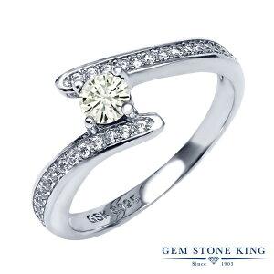 Gem Stone King 0.76カラット Forever Classic モアサナイト Charles & Colvard 指輪 リング レディース シルバー925 モアッサナイト 小粒 金属アレルギー対応
