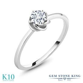 0.5カラット 合成ダイヤモンド 指輪 レディース リング 10金 ホワイトゴールド K10 ブランド おしゃれ フラワー 花 一粒 ダイヤ 小粒 シンプル 細身 プレゼント 女性 彼女 妻 誕生日 母の日