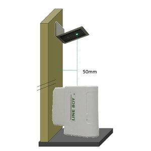 [JSIMA認定店] LBコア グリーンレーザー下げ振り(上方向レーザー) ラインボーイ Uポイント UPV1503G型 目盛板(ピカッと目盛 PM25) ポーチ付きセット
