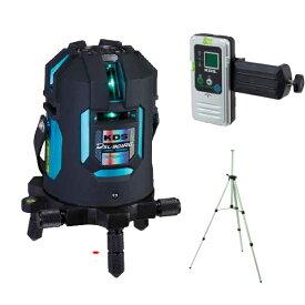 JSIMA認定店 ムラテックKDS 電子整準フルライン ミントグリーンレーザー墨出器 DSL-901RGRSA 受光器 三脚付きセット