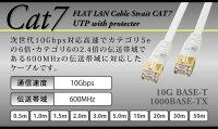 【高品質LANケーブルCAT70.5m】ストレートゴールドメッキLANケーブルケーブルカテゴリ7カテゴリー7ルーターRJ-45黒ゴールドメッキ