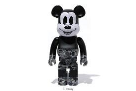 BE@RBRICK(ベアブリック)BAPE® MICKEY MOUSE 1000% [BLACK&WHITE]A BATHING APE medicom toy