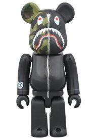 BE@RBRICK BAPE® 1st CAMO SHARK 1000% [BLACK]A BATHING APE medicom toy[新品・未開封・未使用品]