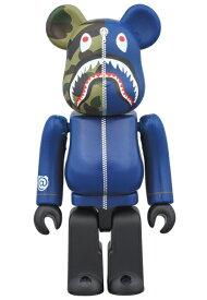 BE@RBRICK(ベアブリック) BAPE® 1st CAMO SHARK 1000% [NAVY]A BATHING APE medicom toy[新品・未開封・未使用品]