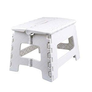 踏み台【Usmascot】滑り止め折りたたみステップスツール、高さ22cm、丈夫で十分安全、大人/子供兼用、折りたたみはしご、簡単収納/