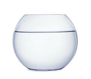 SACHI ガラス製 鉢 テラリウム 観葉植物 インテリア アクアリウム 金魚鉢 にも (24cm)