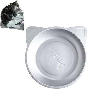 YUMOA 猫 アルミベッド 猫鍋クール アルミキャットボウル猫用 ひんやりクール 夏用 猫 冷却 アイスベッド(シルバー)