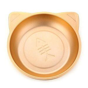 猫鍋 ひんやりクールベッド アルミ製 ねこ鍋 夏用 猫ベッド タライ 滑り止め付き かわいい (ゴールド)