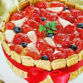 φ17cm ミックスベリー のケーキ( イチゴ ブルーベリー フランボワーズ ) ショートケーキ苺 誕生日 バースデーケーキ ホールケーキ ショートケーキ 【楽ギフ_包装】