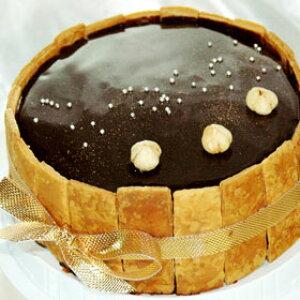 φ15cm チョコムース のケーキ☆プリンセス ショコラ 【 バナナ 】バースデーケーキ ホールケーキ 誕生日 【楽ギフ_包装】
