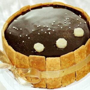 φ15cm チョコムース のケーキ☆プリンセス ショコラ 【 ピーチ 】 桃バースデーケーキ ホールケーキ 誕生日 【楽ギフ_包装】