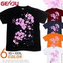 GENJU 桜Tシャツ メンズ 20春夏 桜 さくら Tシャツ tシャツ 春 花見 花 和柄 アメカジ 綿100%、半袖/長袖 ブランド …