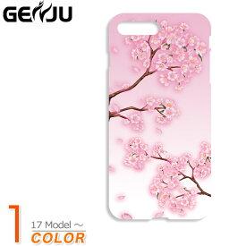 GENJU スマホケース 21春夏 桜 和柄 スマートフォン カバー ケース iPhone 11 12 Pro mini Max XR XS X 5 / 5s / SE 6 / 6s 6 / 6s / 7 / 8 / SE2 6Plus / 6sPlus 7 / 8 / SE2 / 7Plus / 8Plus GALAXY S4 SC-04E S5 SCL23_SC-04F さくら 桜吹雪 ピンク ブランドsc-238