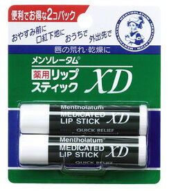 ロート メンソレータム 薬用リップスティックXD 4g×2本組(医薬部外品)
