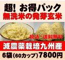 【新米】白米モード楽々炊飯!圧倒的に美味しい減農薬の玄氣1.5kg×6袋(9kg真空パック)【減農薬 玄米 発芽玄米 無洗…