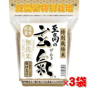 【至高の玄氣】氷温貯蔵で熟成!減農薬・巨大胚芽の発芽玄米圧倒的に美味しい玄氣1.5kg×3袋(4.5kg真空パック)白米モード楽々炊飯!【減農薬 巨大胚芽米 発芽玄米 無洗米】