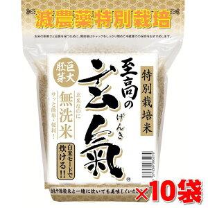 【至高の玄氣】氷温貯蔵で熟成!減農薬・巨大胚芽の発芽玄米圧倒的に美味しい玄氣1.5kg×10袋(15kg真空パック)白米モード楽々炊飯!【減農薬 巨大胚芽米 発芽玄米 無洗米】