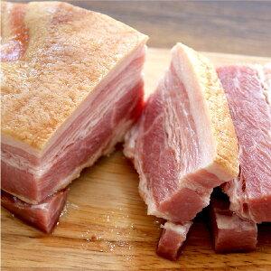 【冷凍食品】【お取り寄せ】元気豚 ベーコン ブロック 不定貫(250g以上)【千葉県産豚肉】【三元豚】